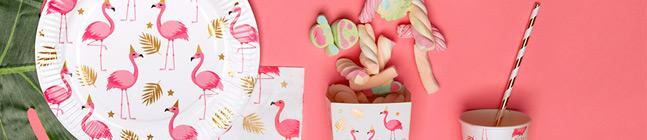 Tema di compleanno Fenicottero Rosa per il tuo bambino