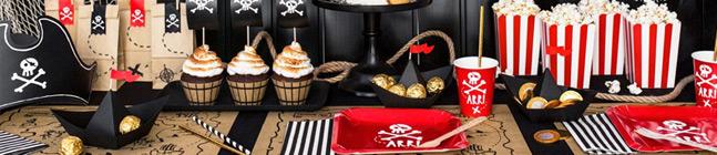 Tema di compleanno Il Pirata Rosso per il tuo bambino