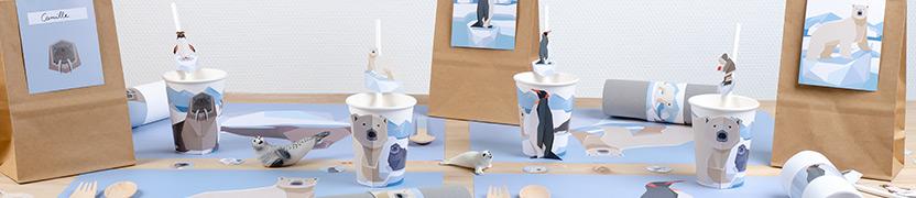 Tema di compleanno Animali polari per il tuo bambino