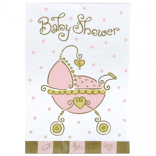 8 inviti Baby shower bambina