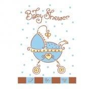 8 inviti Baby shower bambino