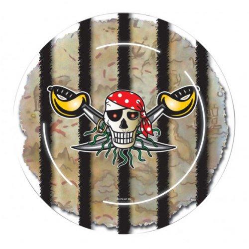 8 Piatti Red Pirata