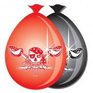 8 Palloncini Red Pirate