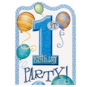 8 inviti compleanno 1 anno bambino