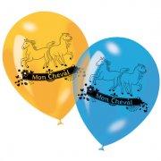 6 palloncini Il mio cavallo (6 colori)