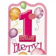 8 inviti compleanno 1 anno bambina
