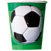 8 Bicchieri Pallone da Calcio