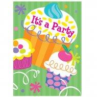 8 Inviti Cupcake