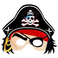 Set di 6 maschere da pirata