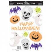 Felice Halloween decorazioni di finestre scintillanti di Halloween