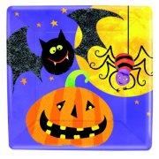 8 piatti quadrati Halloween