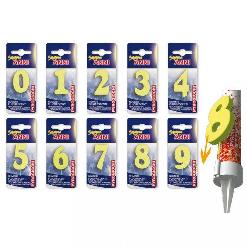 10 Numeri fluorescenti per la fontana luminosa