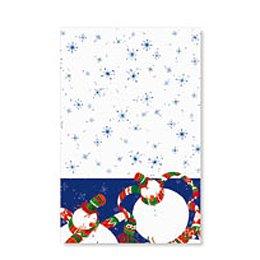 1 tovaglia Pupazzo di neve blu