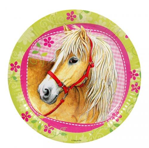 8 Piatti cavallo