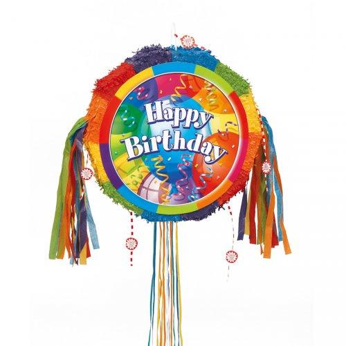 Pull pinata Happy Birthday dispiegabile