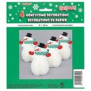4 Mini pupazzi di neve 3D
