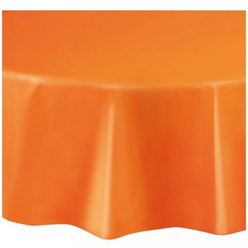 Tovaglia rotonda arancione tinta unita - Plastica