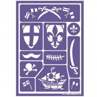 Stencil per trucco Cavaliere e Pirata