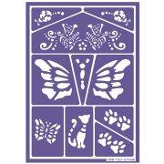 Stencil per trucco Gatti e Farfalle