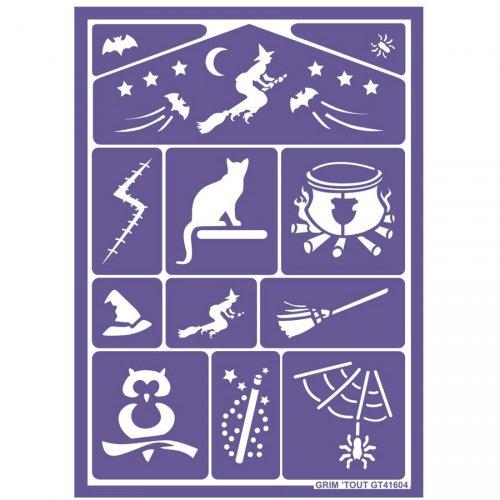 Stencil per trucco Magia e Strega