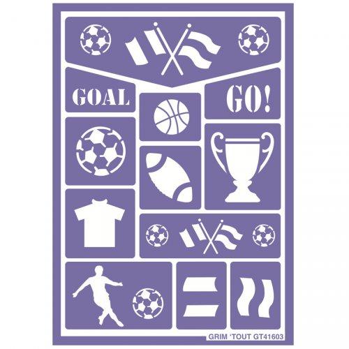 Stencil per trucco Sport