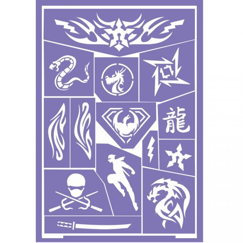 Stencil per trucco Ninja