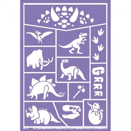 Stencil per trucco Dinosauri
