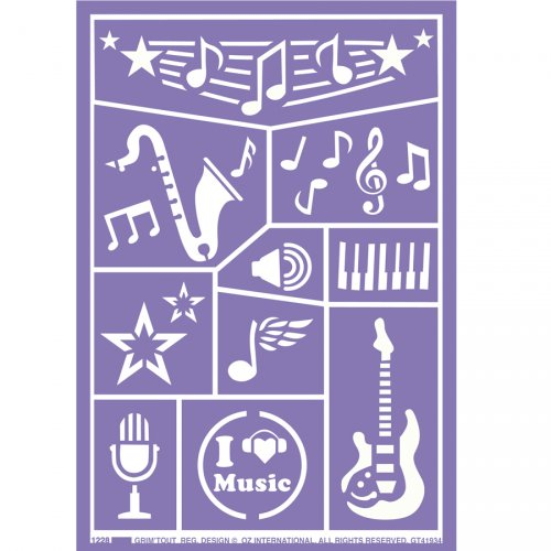 Stencil per trucco Musica
