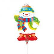 Palloncino con Asta Pupazzo di Neve