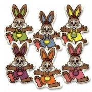 5 Decorazioni piatte con conigli