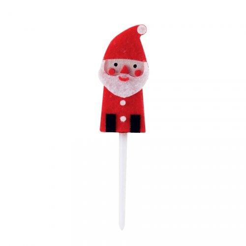 4 stuzzicadenti di Babbo Natale in feltro