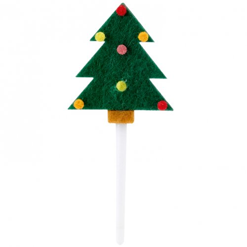 4 stuzzicadenti albero di Natale in feltro