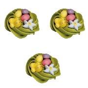 3 Mini nidi pasquali in pasta di zucchero