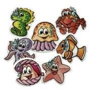 8 Decorazioni piatte - Animali marini
