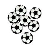 4 Decorazioni piatte - Palloni da calcio