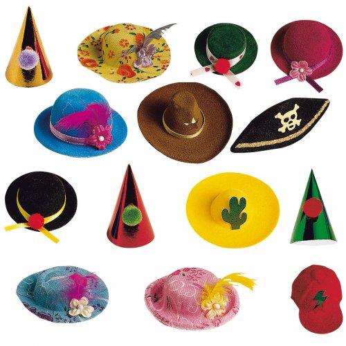 8 Mini cappelli assortiti