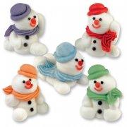 5 Pupazzi di Neve seduti di zucchero 3D
