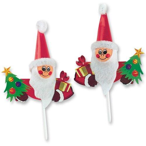 4 Babbo Natale su stuzzicadenti