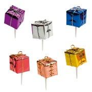 6 stuzzicadenti pacchetti regalo