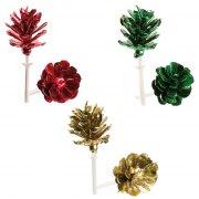 6 Mini Stecchini decorativi Pigne