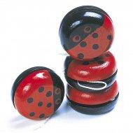 4 Yo-yo coccinella di legno Yo-yo