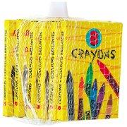 6 scatole da 8 matite di grasso