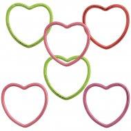 6 braccialetti a cuore