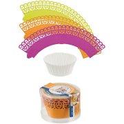Kit cupcake 3 colori rosa / arancione/giallo