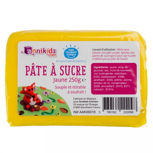 Pasta di zucchero 250g - Giallo