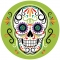 Disco di zucchero Halloween Calavera images:#0