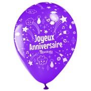10 Palloncini Buon compleanno Annikids - Viola