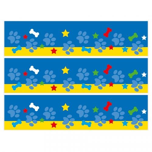 Contorni per torta di zucchero - Dog Paw blu