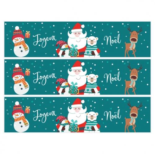 Contorni per torta di zucchero - Babbo Natale verde