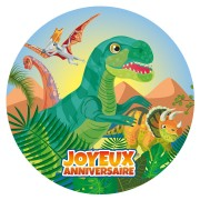 Disco di zucchero Dino T-Rex (19 cm)